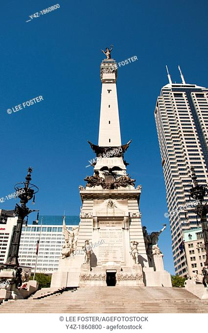 USA, Indiana, Indianapolis, Soldiers and Sailors Monument