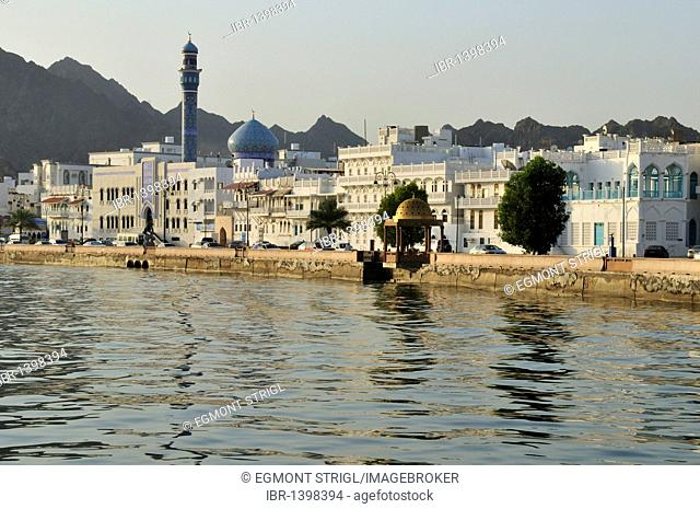 Historic oldtown of Mutrah along the Corniche, Muscat, Mascat, Masqa?, Sultanate of Oman, Arabia, Middle East