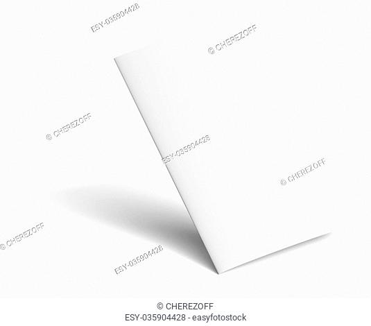 Blank TwoPaper Brochure With Shadows