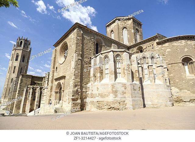 Old Cathedral, Catedral de Santa Maria de la Seu Vella, gothic style, iconic monument in the city of Lleida. Catalonia. Spain