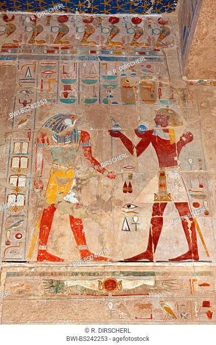 Relief at Queen Hatshepsut Temple, Egypt, Luxor
