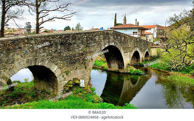 Mellid stone bridge, Coruña province, Spain