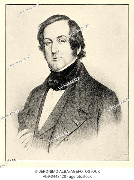"Portrait of Count Charles Marie Tanneguy Duchatel (19 February 1803, Paris â. "" 5 November 1867, Paris) was a French politician"