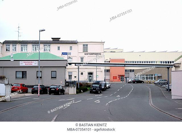 The industrial area in Mainz with the headquarter of the Kistenpfennig AG and the Alevitisches Kulturzentrum in Mainz