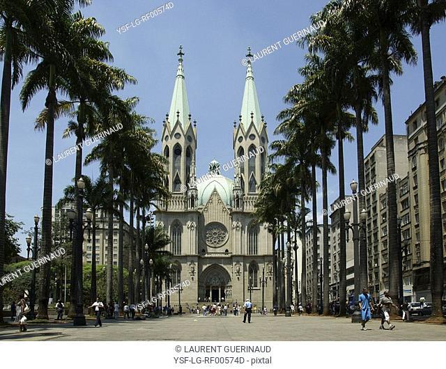 Sé Cathedral, Sé Square, Center, São Paulo, Brazil