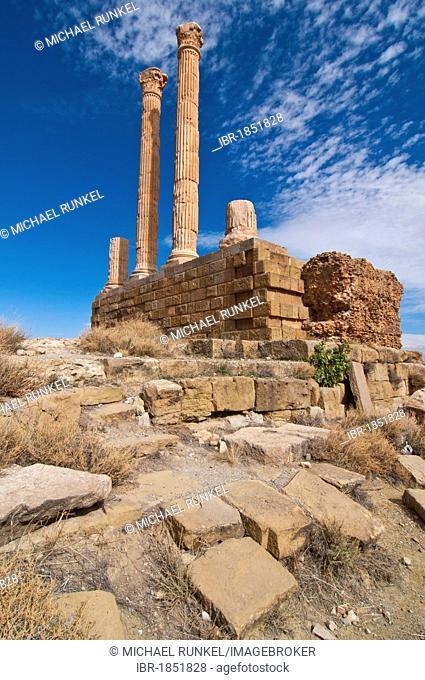 The Roman ruins of Timgad, Unesco World Heritage Site, Algeria, Africa