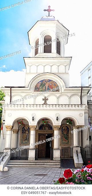 The old Saint John New Church near Unirii Square in Bucharest, Romania