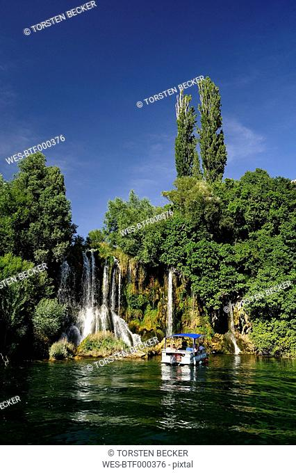 Croatia, Krka National Park, Roski Slap, waterfall