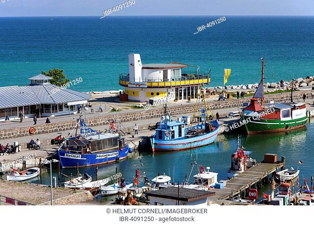 Harbour, Baltic Sea, Sassnitz, Rügen, Mecklenburg-Western Pomerania, Germany