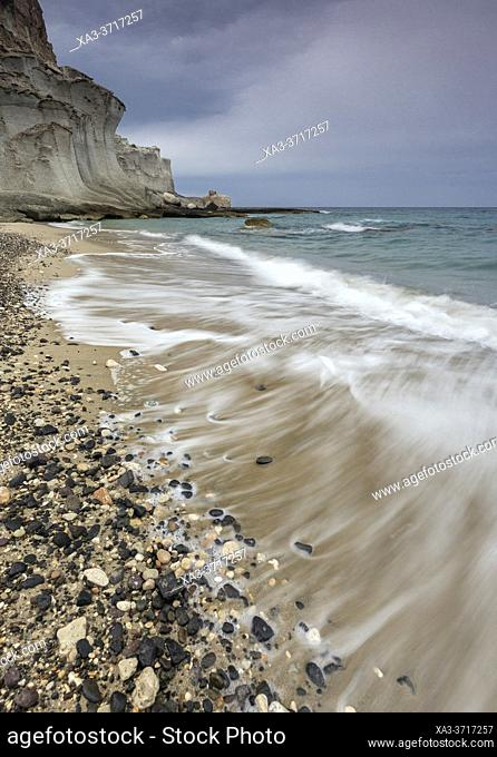 Cala de Enmedio beach, Cabo de Gata Nijar natural park, Almeria, Andalusia, Spain