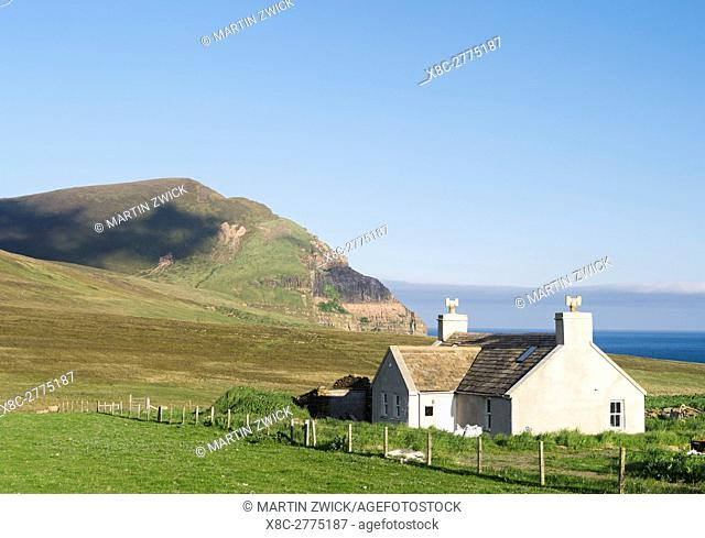 The island of Hoy, croft at the northern coast. europe, central europe, northern europe, united kingdom, great britain, scotland, northern isles,orkney islands
