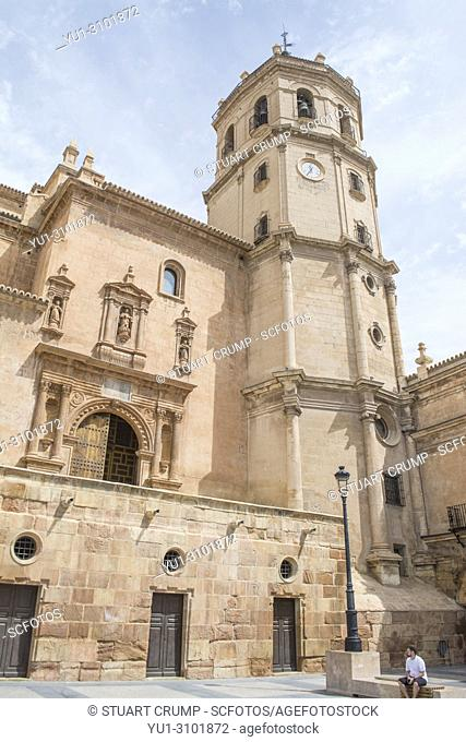Colegiata de San Patricio church in the plaza de espana in Lorca Murcia Spain