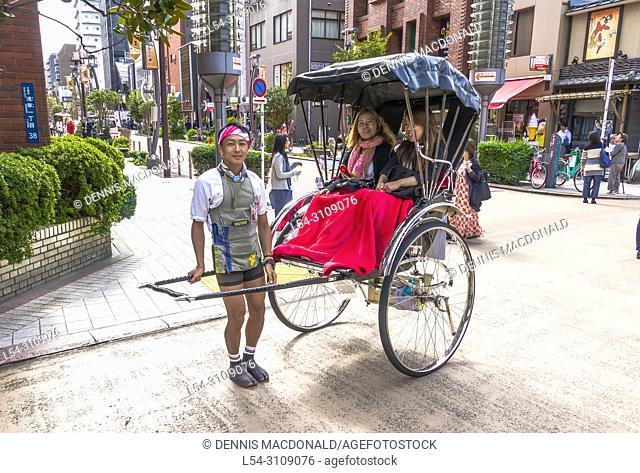 Rickshaw ride in Asakusa Tokyo Japan Asia