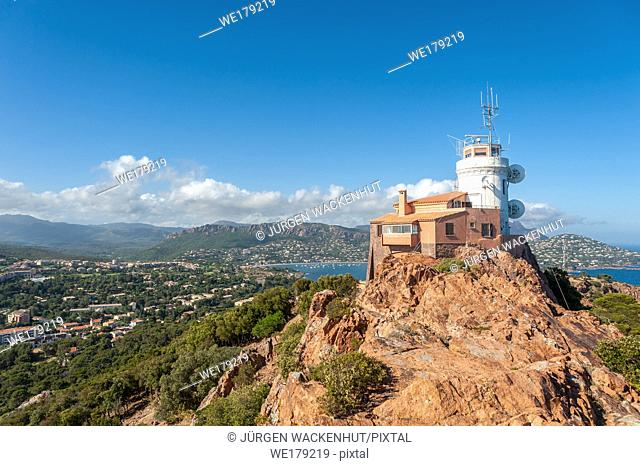 Lighthouse at Cap du Dramont, Saint-Raphael, Var, Provence-Alpes-Cote d`Azur, France, Europe