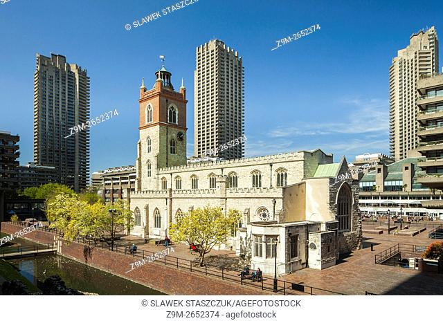 St Giles Cripplegate church in Barbican, City of London, England