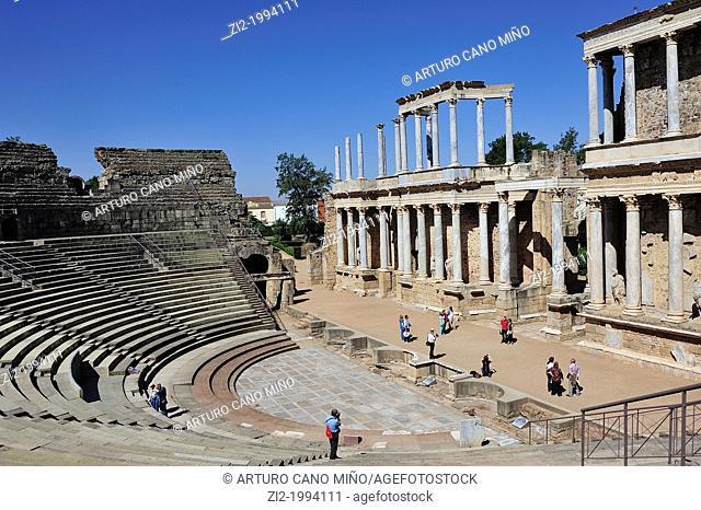 Roman Theatre. Merida, Badajoz, Spain