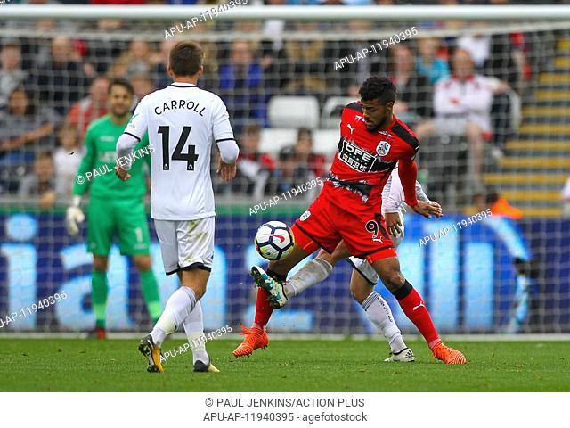 2017 EPL Premier League Swansea City v Huddersfield Oct 14th. 14th October 2017, Liberty Stadium, Swansea, Wales; EPL Premier League football