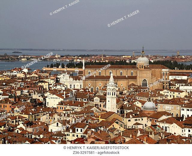 The Basilica di San Giovanni e Paolo, Venice, from The Campanile bell tower