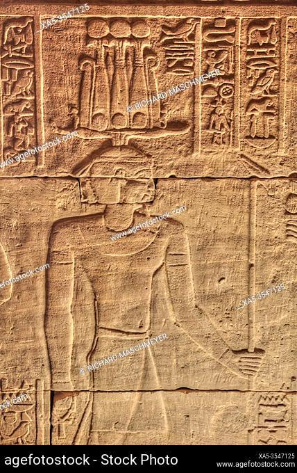 Bas Reliefs, Beit al-Wali Temple, Kalabsha, UNESCO World Heritage Site, Near Aswan, Egypt