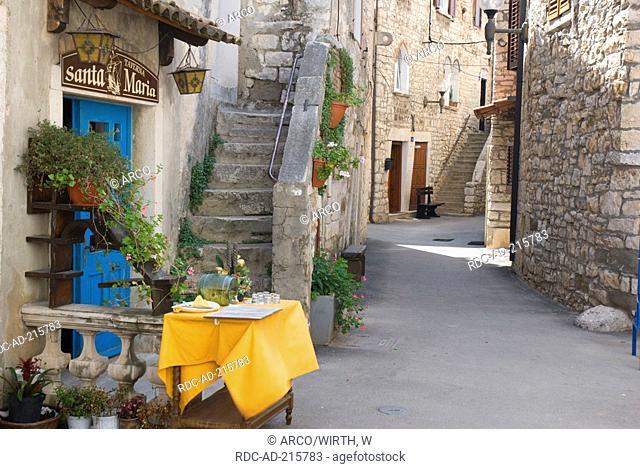 Tavern 'Santa Maria', old town, Umag, Istria, Croatia