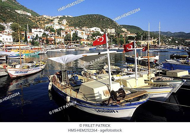 Turkey, Mediterranean region, Lycian Coast, cruising on the Turquoise Coast, Kas harbour