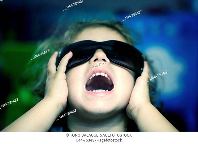 Girl screaming with sunglasses
