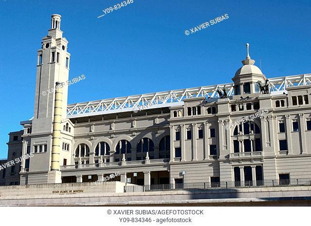 Lluís Compayns Olympic Stadium, Montjuic, Barcelona. Catalonia, Spain