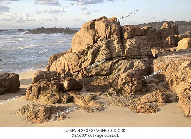 Rock on Forcados Point Beach; Costa de la Muerte; Galicia; Spain