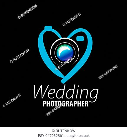 logo wedding photographer. Vector illustration of icon