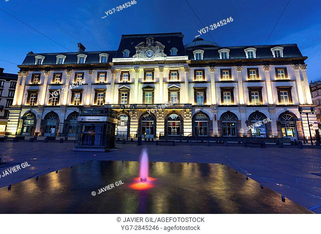 Jaude square in Clermont-Ferrand, Puy de Dome, Auvergne, France, Europe
