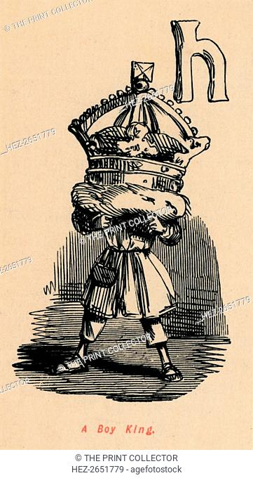 'A Boy King', c1860, (c1860). A caricature of Edward V (1470-1483). From The Comic History of England, Volume I, by Gilbert A A'Beckett [Bradbury, Agnew, & Co