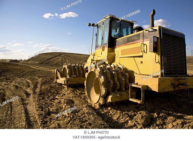Heavy road construction equipment
