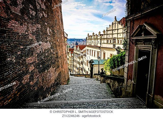 Steps up the Castle on Zam Schody in Prague