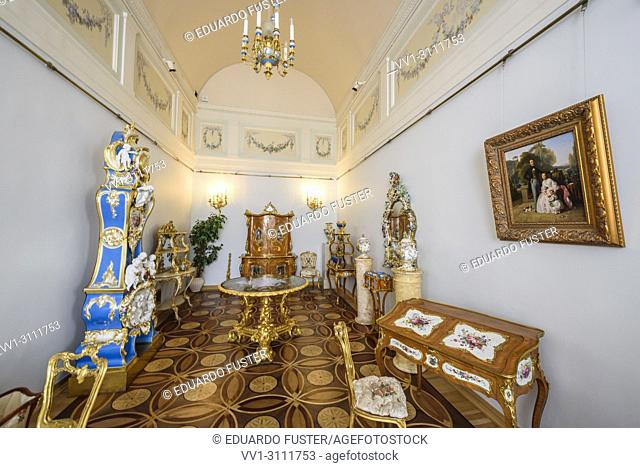 Historical room of the Winter Palace in The Hermitage, St. Petersburg, Russia