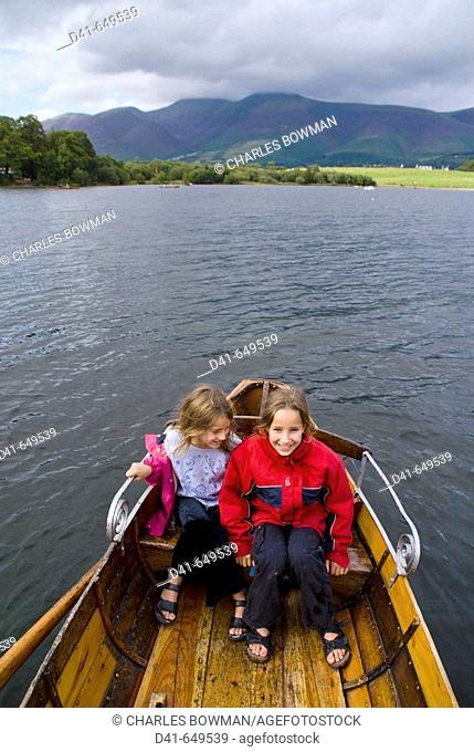Europe, UK, england, Cumbria, Lake district, Derwentwater boating