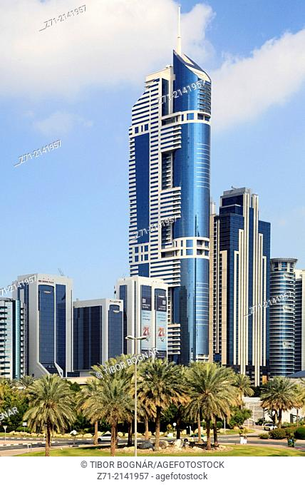 United Arab Emirates, Dubai, Sheikh Zayed Road, skyline, skyscrapers,