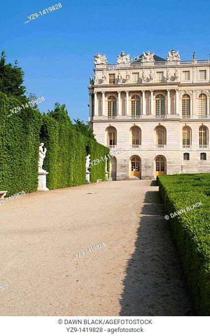 Palace of Versailles North Wing Garden Facade