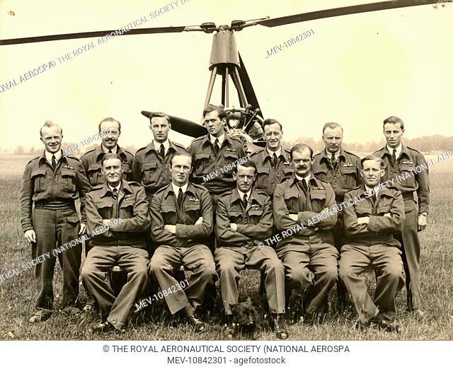 529 Squadron at RAF Halton. circa 1943. Standing: F/O Jimmy Harper, F/O Norman Hill, F/O George 'Henry' Ford, F/O John Dennis, F/O not identified