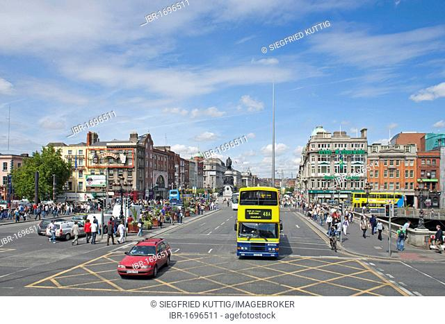 O'Connell Bridge and O'Connell Street, Dublin, Republic of Ireland, Europe