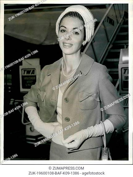 1959 - Idlewild Airport, N.Y., May 19 - Beautiful English Star Of Movies And Television, Dana Wynter, Brightens The Airport Scene On Her Arrival From Los...