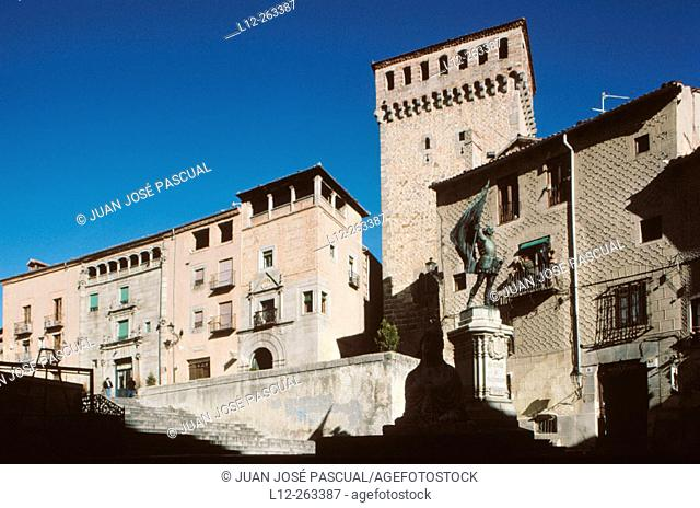 Medina del Campo Square in Segovia. Castilla y Leon. Spain