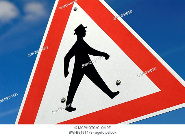 traffic sign pedestrian