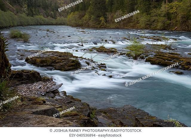 North Umpqua River wild and scenic section in the Umpqua National Forest of Oregon near the town of Glide
