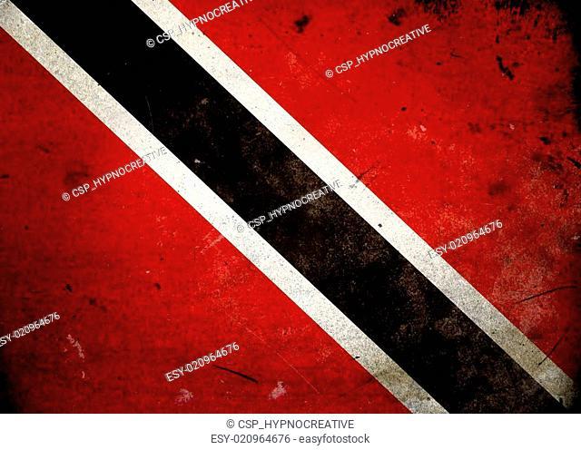 Grunge Flag Trinidad and Tobago