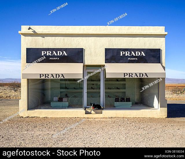 Prada Marfa is a permanent sculptural art installation by artists Elmgreen and Dragset, Valentine, TX