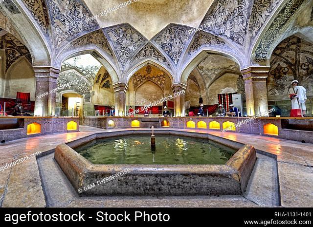 Historic Hamman-e Vakil Bath, Shiraz, Fars Province, Iran, Middle East