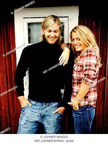 Portrait off a young couple