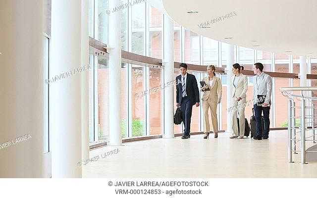 Executives walking in congress building, Business, San Sebastian Technology Park, Donostia, San Sebastian, Gipuzkoa, Basque Country, Spain