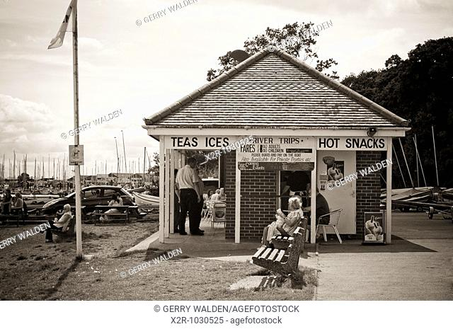 Beach kiosk at Hamble in Hampshire, England