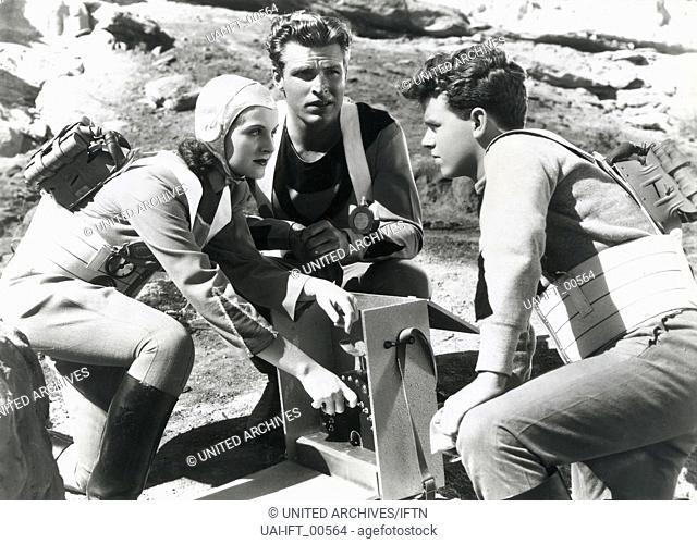 Buck Rogers, USA 1939, aka: Buck Rogers: Destination Saturn, Regie: Ford Beebe, Saul A. Goodkind, Darsteller: Constance Moore, Buster Crabbe, Jackie Moran